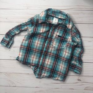 Carters plaid button down shirt